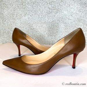 Christian Louboutin Decoltish 70mm brown Pumps